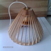 hanging lamp made of natural wood